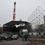 <p>Budowa sceny pod kopalnią Wujek</p>
