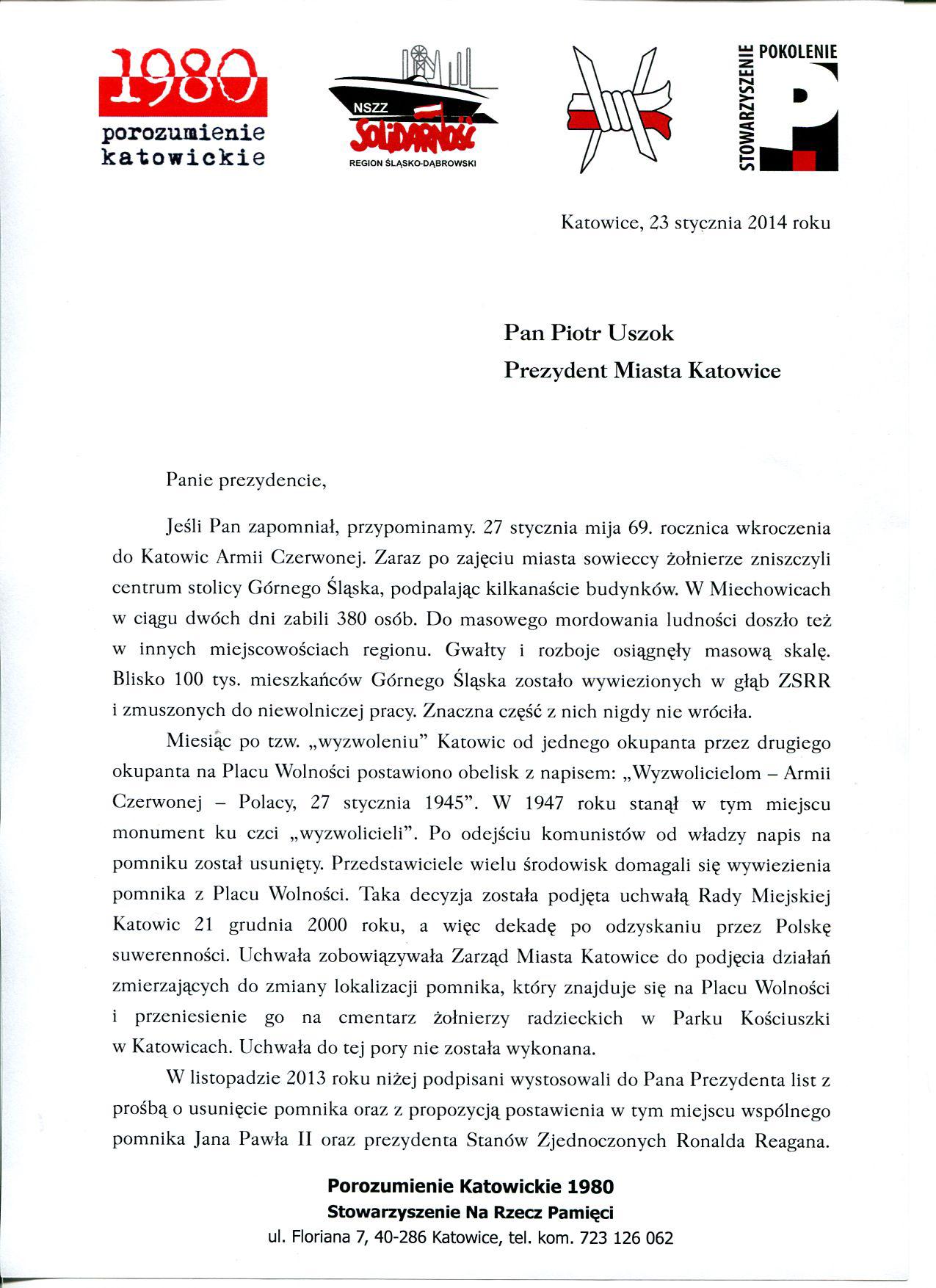Pismo do Prezydenta1